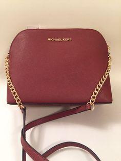 7dccfc39526 Michael michael kors saffiano leather dome crossbody bag