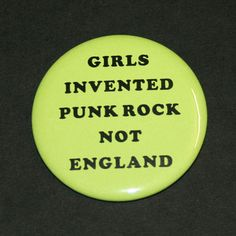 Girls Invented Punk Rock Pinback Button Badge by CandyPunkCo, $1.80