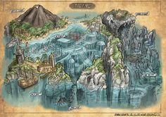 FZD students (term designing some old-school RPG maps. Fantasy City Map, Fantasy World, Fantasy Map Making, Bg Design, Game Design, Dungeons And Dragons, Rpg Map, Dungeon Maps, City Maps