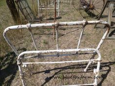 What would you do with old rusty bed frames?  I can think of a few ways to use them in my junk garden; gates, for instance...