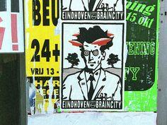 Eindhoven Braincity, two color screenprint, Space3, Eindhoven 2000.