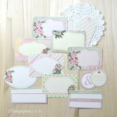 Shabby Chic Vintage Floral Labels - Free Printable Download