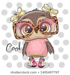Imagens, fotos stock e vetores similares de Cute Cartoon Owl on a hearts background - 1304109256 Cartoon Cartoon, Cute Owl Cartoon, Cartoon Images, Animal Drawings, Cute Drawings, Cute Owl Drawing, Cartoon Mignon, Owl Artwork, Owl Wallpaper