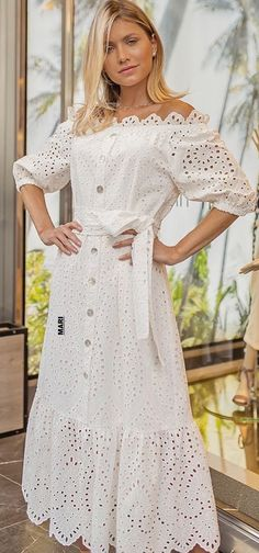 Casual Dresses, Casual Outfits, Fashion Outfits, Summer Dresses, Womens Fashion, White Frock, White Dress, One Piece Dress, African Fashion Dresses