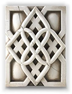"""""""Resilience"""" tile by artist Sid Dickens out of Vancouver Canada. Memory Blocks are hand crafted plaster, finished to a porcelain-like quality, cracked to create an aged look and feel."""