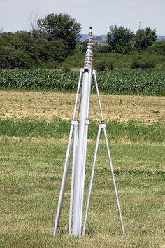 40 ft aluminum telescopic mast by Aeromao Radios, Qrp, Ham Radio Antenna, Telescope, Survival, Hams, Arduino, Helpful Hints, Conversation