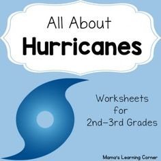Hurricane worksheets for your unit study! Saffir-Simpson scale, Make your own hurricane, hurricane names, and more! Online Nursing Schools, Weather Activities, Learning Activities, Weather Science, Stem Activities, Hurricanes For Kids, Weather Hurricane, Third Grade Science