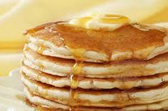 Go-To Pancake Recipe: 1 1/2 c. flour 3 1/2 tsp. baking powder 1 tsp. salt 1 tbsp. sugar 1 1/4 c. milk 1 egg 3 tbsp. melted butter **Plus, toppings**