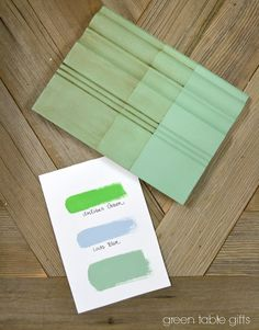 Antibes Green & Louis Blue Mix follow with clear wax, then 50/50 clear wax, and dark wax. From Green Table Gifts on Facebook.
