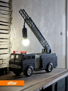 Before & After: Upcycled Fire Truck Lamp | Apartment Therapy