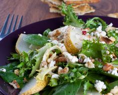 Spinach, Pear and Pancetta Salad