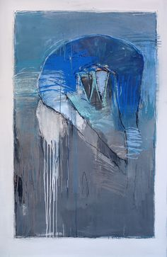"""Harry Ally, Artist, Nuit Series, Nuit #2, 2009, charcoal, pastel, acrylic on paper, 60X38"""""""