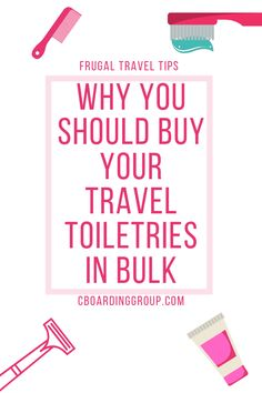 Frequent travelers burn through travel toiletries at an astonishing pace. This costly exercise is avoided when buying your travel size toiletries in bulk