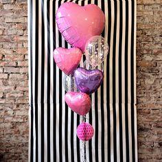 Розовые и сиреневые фольгированные шары сердца и прозрачные шары с конфетти. Идея в День Святого Валентина и на День Рождения |Pink purple clear confetti foil heart balloon birthday set
