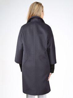 Пальто женское демисезонное цвет антрацит, ворс, мембрана, артикул 10138889