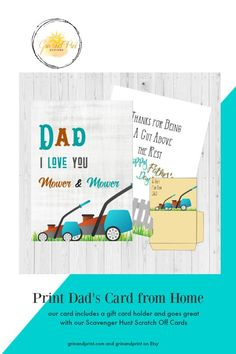 71cbd7ca Need a cute Fathers Day card with gift card holder for Dad? This is a