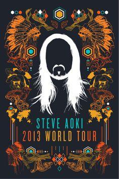 Steve Aoki World Tour Poster Entry on Behance