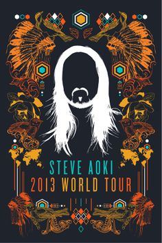 Steve Aoki World Tour Poster Entry on Behance