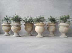 Set of Six Garden Urns-Chateau Domingue