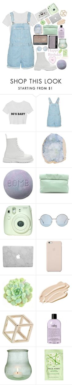 """""""❀ Happy Birthday to me! ❀"""" by seals23 ❤ liked on Polyvore featuring Topshop, CASSETTE, Dr. Martens, NARS Cosmetics, Marie Turnor, Fuji, Black Apple, WALL, Stila and philosophy"""