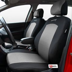 Seat Covers Universal Full Set Fit Toyota Prius Silver Black
