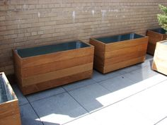 ipe planters  for  terrace