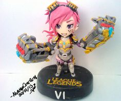 League of Legend Vi polymer clay by yuisama.deviantart.com on @DeviantArt