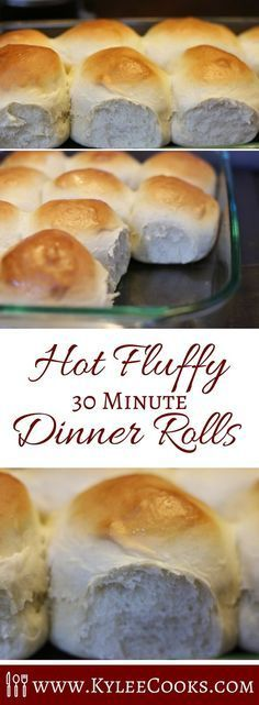 What do you do when you need dinner rolls soon, and want them to be homemade, AND you need them asap? MAKE THIS RECIPE and pull hot, fluffy rolls out of the oven in about 30 minutes. via @kyleecooks