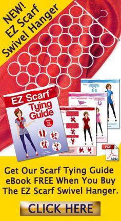 EZ Scarf Scarf Hanger White Closet Organizer w Tying Guide eBook. 28 Loop Holder for Scarves, Ties Scarf Hanger, Diy Scarf, Scarf Tying Tutorial, Scarf Storage, White Closet, Being Ugly, Ties, Scarves, Tutorials