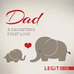 Dad - a daughter's first love. #Fathersday #Dad #Father #Quote #Love #Family