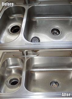 Awesome 3-step solution to clean your stainless steel kitchen sink! Uses all natural ingredients from your kitchen cupboard...Can't wait to try it!!