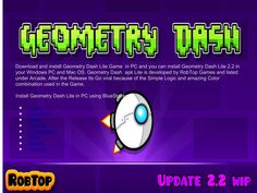 Geometry Dash Game apk free from here.