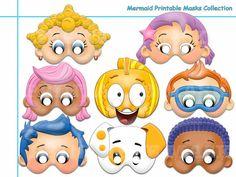 Unique Mermaid Printable Masks Collection fish by AmazingPartyShop