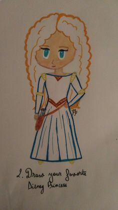 Dessin Mérida (rebelle) Disney challenge day 2 Merida, Rebelle Disney, Anna, Challenge, Princess Zelda, Fictional Characters, Drawings, Fantasy Characters