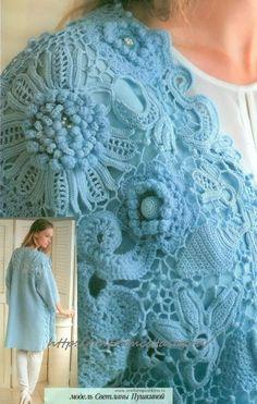 31 new Ideas crochet cardigan free hooks Crochet Motif Patterns, Crochet Headband Pattern, Crochet Cardigan Pattern, Crochet Designs, Knitting Patterns Free, Knitting Stitches, Russian Crochet, Irish Crochet, Crochet Coat