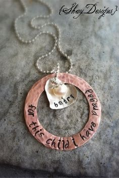 {For This Child} Stamped Adoption Necklace