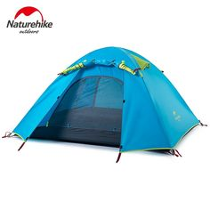 87.00$  Watch here - http://aligvn.shopchina.info/go.php?t=32793342940 - STAR HOME 3 Person Camping Tent Double Layers Aluminum Rod 3 Season Outdoor Hiking Travel Play Tent Rainproof  #buychinaproducts