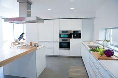 modern kitchen, window.