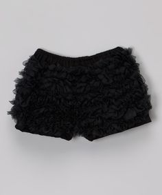 Look at this Black Chiffon Ruffle Shorts - Infant, Toddler & Girls on #zulily today!