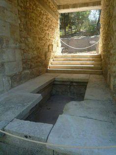 Minoan public baths, Knossos,Crete-Greece