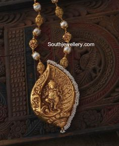 Gold Balls Chain with Ganesh Pendant photo