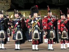 Edinburgh Tattoo - massed pipe bands. If you have never witnessed the massed pipes and drums you have not lived!