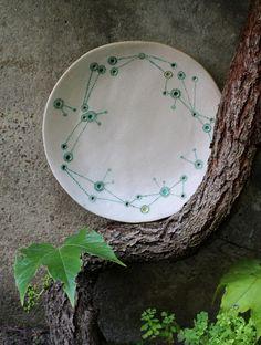 ceramic plate zodiac by nomen omen studio