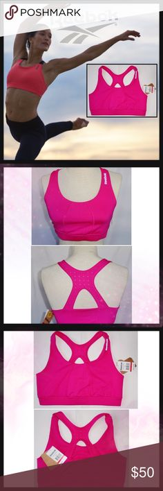 REEBOK Women's S Athletic Sports Bra Top REEBOK Women's S Athletic Sports Bra Top Condition: New with tags Size: Small Color: Hot pink Product Details:  Medium support Wireless Reebok Intimates & Sleepwear Bras