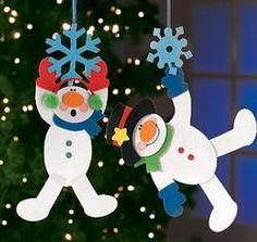 Ideas para navidad - N. Christmas Activities, Christmas Crafts For Kids, Christmas Snowman, Winter Christmas, Holiday Crafts, Christmas Decorations, Snowman Crafts, Ornament Crafts, Xmas Ornaments