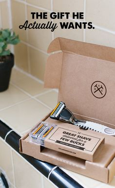 Finally, a gift he wants AND needs. Dollar Shave Club delivers amazing razors and grooming products. Get him a gift card to Dollar Shave Club today.