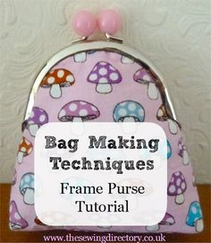 Framed purse tutorial                                                                                                                                                      More