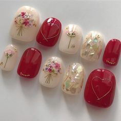 Wedding Nails-A Guide To The Perfect Manicure – NaiLovely Classy Nails, Stylish Nails, Simple Nails, Cute Nails, Red Nail Designs, Simple Nail Art Designs, Easy Nail Art, Bling Nails, Swag Nails