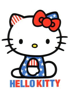 Character wallpapers on pinterest iphone wallpaper for Hello kitty 4th of july coloring pages