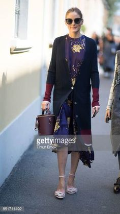 Olivia Palermo seen in the streets of Milan during during Milan Fashion Week Spring/Summer 2018 on September 22 2017 in Milan Italy